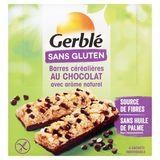 Gerblé Sans Gluten Barres Céréalières au Chocolat avec Arôme Naturel 6 Stuks 132 g