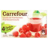 Carrefour Coulis de framboises 4 x 50 g