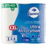 Carrefour Ultra Absorbant XXL Essuie-Tout 3 Épaisses 2 Rouleaux
