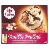 Carrefour Vanille Praliné 6 Pièces 408 g