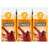 Carrefour Classic' Halfvolle Melk Choco 6 x 200 ml