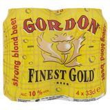 Gordon Fines Gold Strong Blond Beer Canette 4 x 33 cl