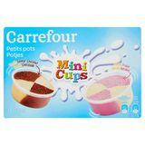 Carrefour Potjes Vanille Chocolade Vanille Aardbei 12 x 30.67 g