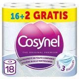 Cosynel The Original Premium Blauw Toiletpapier 3 Lagen 16+2