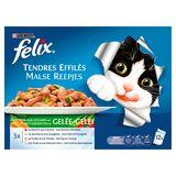 FELIX Alimentation Chat Tendres Effiles Légumes en Gelée 12 x 100 g