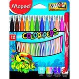 Maped Lot de 12 feutres Jungle Color'Peps