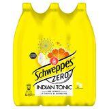 Schweppes Zero Indian Tonic aux Extraits d'Écorces de Quinquina 6 x 1.5 L