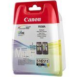 Canon - Inktcartridge PG-510 / CL-511 - BL/C/M/Y