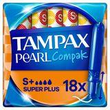 Tampax Pearl Compak SuperTampons Met Inbrenghuls x18