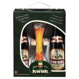 Kwak Flessen 4 x 330 ml + Glas