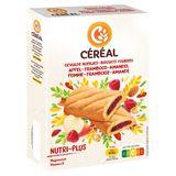 Céréal Vitalité Biscuits Fourrés Pomme - Framboise - Amande 10 Pièces 200 g