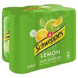 Schweppes Lemon aux Saveurs de Citron, Citron Vert 6 x 33 cl