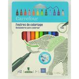 Carrefour 12 fijne viltstiften, 3+
