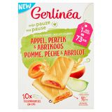 Gerlinéa Ma Pause Biscuits Fourrés Pomme, Pêche & Abricot 10 x 20 g