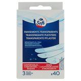 Carrefour Pansements Transparents Résistants à l'Eau x 40