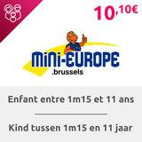 Mini-Europe: Billet enfant (> 1m15 en 11 jaar)