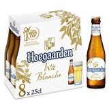 Hoegaarden Bière Blanche Coriander & Orange Peel Bouteilles 8 x 25 cl