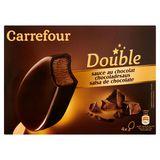 Carrefour Double Chocoladesaus 4 x 85.5 g