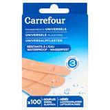 Carrefour Pansements Universels Résistants à l'Eau 100 Pièces