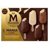 Magnum Ola Double Multipack Glace Classic, Almond, White, Caramel (6 x 110) + (2 x 88) ml
