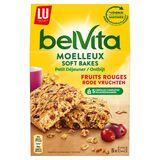 LU BelVita Petit Déjeuner Soft Baked Fruits Rouges 250 g