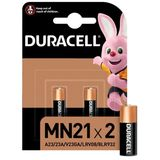 Duracell 2 Piles Security Alkaline 12V MN21 A23 - K23A LRV08
