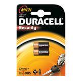 Duracell - 2 Batterijen Security Alkaline 12V MN21 A23 - K23A LRV08