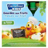 Carrefour Kids Gourdes aux Fruits Pomme 4 x 90 g
