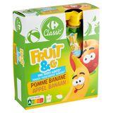 Carrefour Kids Gourdes aux Fruits Pomme Banane 4 x 90 g