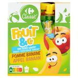 Carrefour Kids Flesjes met Fruit Appel Banaan 4 x 90 g
