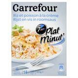 Carrefour Plat Minut' Rijst en Vis in Roomsaus 300 g