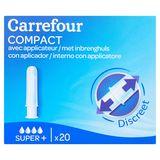 Carrefour Compact Discreet met Inbrenghuls Super+ 20 Pièces