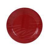 Carrefour Home 24 Assiettes 23 cm Rouge