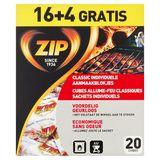 Zip Cubes Allume-Feu Classiques Sachets Individuels 20 Pièces