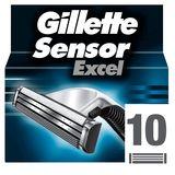 Gillette SensorExcel Scheermesjes Voor Mannen - 10 Navulmesjes