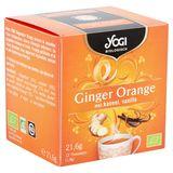 Yogi Biologique Gingembre Orange avec Cannelle, Vanille Sachets d'Infusion 12 x 1.8 g
