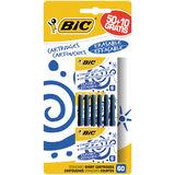 Bic Cartouches d'Encre Courtes 50+10 Bleu Effaçable