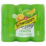 Schweppes Zero aux Saveurs de Citron, Citron Vert 6 x 33 cl