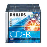 Philips - 10 Lege CD's - Transparant / Zwart
