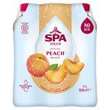SPA TOUCH Peach Gearomatiseerd Water Bruisend PET 6 x 50 cl