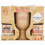 Waterloo Strong Dark, Triple Blond Flessen 4 x 33 cl + Glas