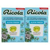 Ricola Alpin Fresh Zwitserse Kruidenpastilles 2 x 50 g