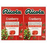 Ricola Cranberry Zwitserse Kruidenpastilles 2 x 50 g