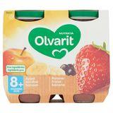 Olvarit compote bébé Pomme fraise banane 8 mois 2x200g