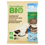 Carrefour Bio Mini Galettes de Riz Chocolat Noir Noix Coco Rapée 60 g