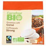 Carrefour Bio Dosettes Cafés Corsé 16 Dosettes 112 g