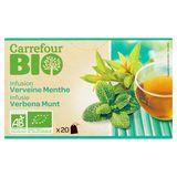 Carrefour Bio Infusie Verbena Munt 20 Stuks 30 g