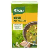 Knorr Soupe en Brique Cerfeuil avec Boulettes 1 L