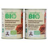 Carrefour Bio Double Concentré de Tomates 2 x 140 g