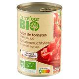 Carrefour Bio Pulpe de Tomates en Dés au Jus 400 g